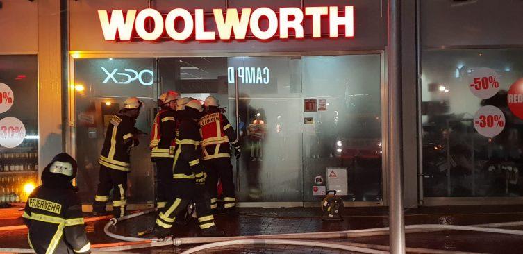Lingen Aktuell - Brand in Einkaufshaus Foto: NordNews.de