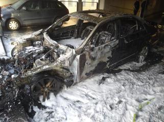 Lingen - Fahrzeugbrand im Parkaus Medicus Wesken Foto: NordNews.de