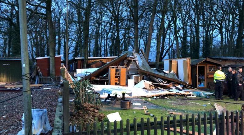 Freren - Holzhütte auf Campingplatz explodiert