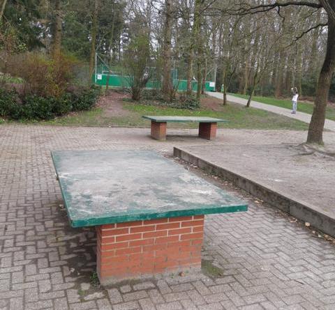 Esterwegen - Tischtennisplatten des Schulzentrums Esterwegen beschädigt Foto: Polizei
