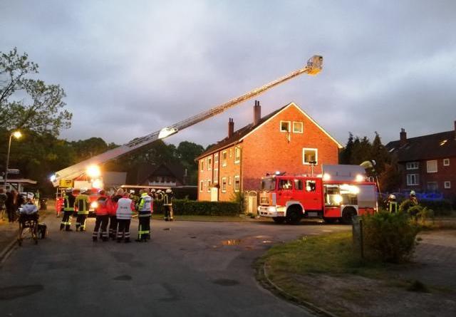 Gebäudebrand in Meppen - Feuerwehr rettet Bewohner Foto: NordNews.de