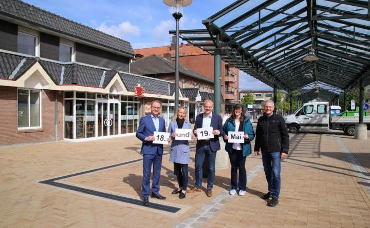 Am 18. und 19. Mai wird die neu gestaltete Fußgängerzone in Haren (Ems) eingeweiht. Foto: Stadt Haren