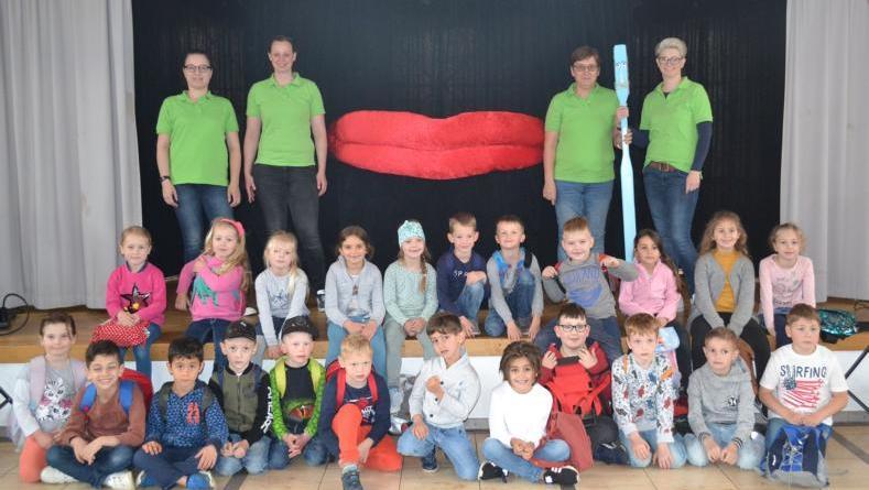 Manni Milchzahn besuchte Grafschafter Vorschulkinder - Foto: Landkreis Grafschaft Bentheim