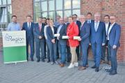 """Vertreter aus Wirtschaft, Wissenschaft, Politik und Verwaltung kamen in Lingen zusammen, um den aktuellen Stand der Entwicklung zur """"H2-Region Emsland"""" zum Thema zu machen. (Foto: Stadt Lingen). Foto: Landkreis Emsland"""