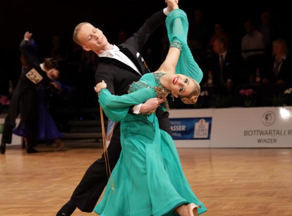 TSG-Tanzpaare erfolgreich in Stuttgart, Luc Broder und Luise Maul auf dem Foto: Foto: Gitta Koning, Presswartin TSG Nordhorn
