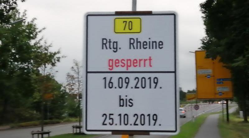 Lingen Aktuell - Sperrung in Richtung Rheine - Foto: NordNews.de