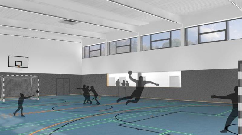 So soll das Innere des neuen Aktivtreffs Herbrum nach der Fertigstellung der neuen Halle aussehen. Foto: Stadt Papenburg