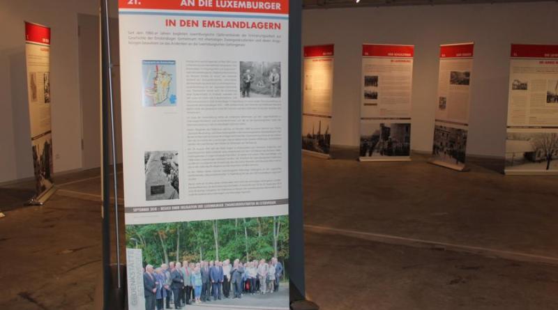 Blick in die Sonderausstellung aus Luxemburg, die durch Bezüge zu den Emslandlagern ergänzt wurde (Quelle: Gedenkstätte Esterwegen)