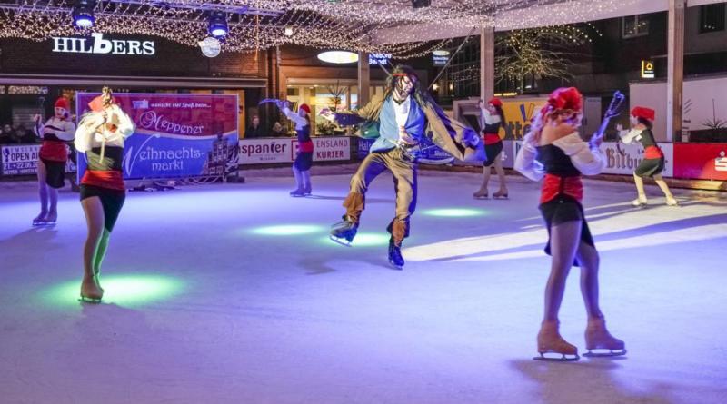 Eislaufshow auf der Meppener Eisbahn - Foto: Scholz