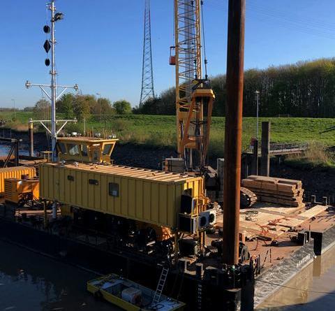 Bautätigkeiten an der Schleuse – Außenhaupt gesperrt - Foto: Stadt Papenburg