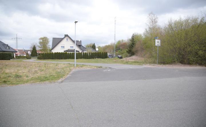 """Hier wird ab Mittwoch gearbeitet: Straße """"In den Gärten"""" in Haren (Ems). Foto: Stadt Haren (Ems)."""