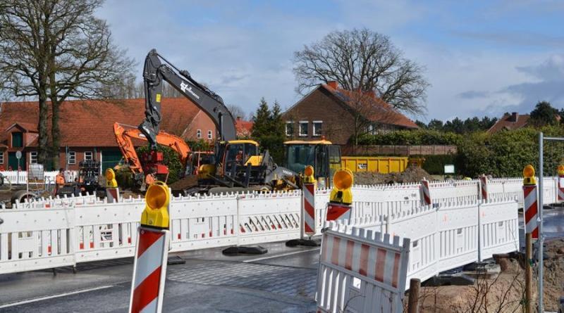 Straßensperrungen im Zuge des Kreisverkehrneubaus am Knotenpunkt L48 / L67 in Geeste-Dalum - Foto: Gemeinde Geeste