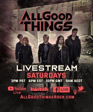 US-Rocker ALL GOOD THINGS samstags im Live-Stream