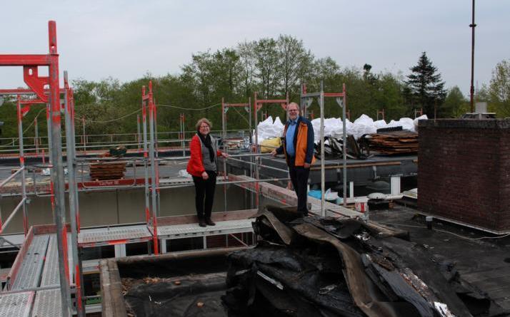 Dachsanierung an Michaelschule gestartet - Foto: Stadt Papenburg