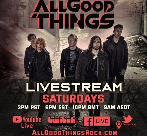 US-Rocker ALL GOOD THINGS am Samstag mit Gast PHIL X im Live-Stream
