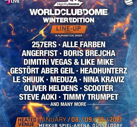 BigCityBeats WORLD CLUB DOME Winter Edition 2021 - Super-Early-Bird-Tickets & Kombitickets ab Mittwoch erhältlich