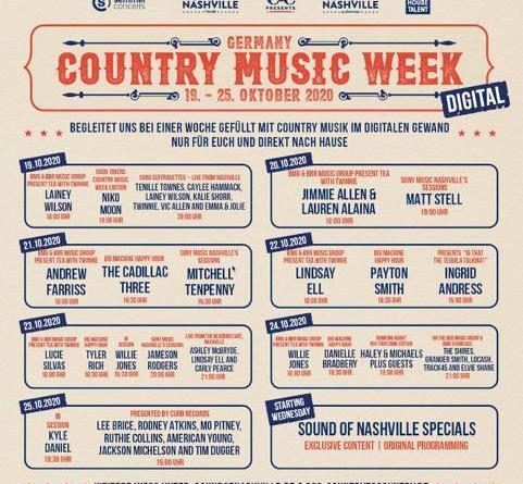 Die digitale COUNTRY MUSIC WEEK 2020 mit vielen Stars - hat endlich ihren Zeitplan!