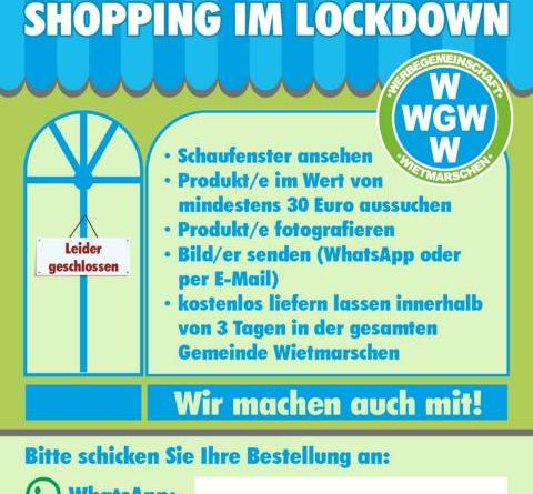 Schaufenster-Shopping in Wietmarschen - Grafik: Wirtschaft Innovation Nordwest