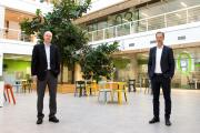 Führungswechsel - Arno Appel und Bernhard Niemeyer-Pilgrim. Foto: bp Lingen