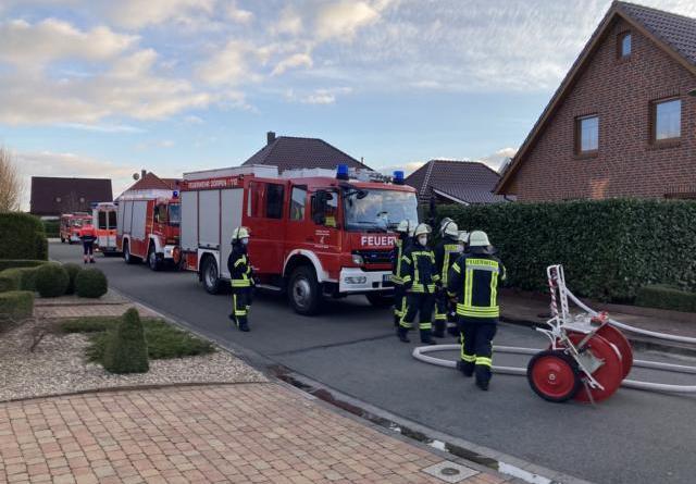 Foto vom Einsatz in der Bürgermeister Busemann Straße Samtgemeinde Dörpen/ Feuerwehr
