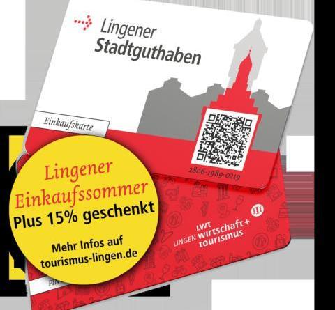 15 Prozent Bonus aufs Lingener Stadtguthaben - Sommer-Shopping im Juli und August – samstags kostenlos parken und LiLi-Bus fahren