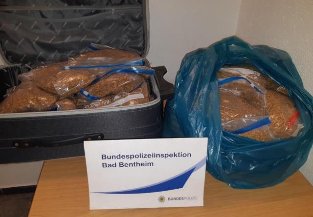 Bad Bentheim: 20 Kilogramm unversteuerten Tabak beschlagnahmt - Foto: Polizei