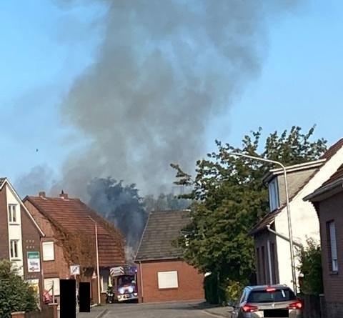 Schüttorf - Brand in einem Anbau eines Einfamilienhauses - Foto: Privat