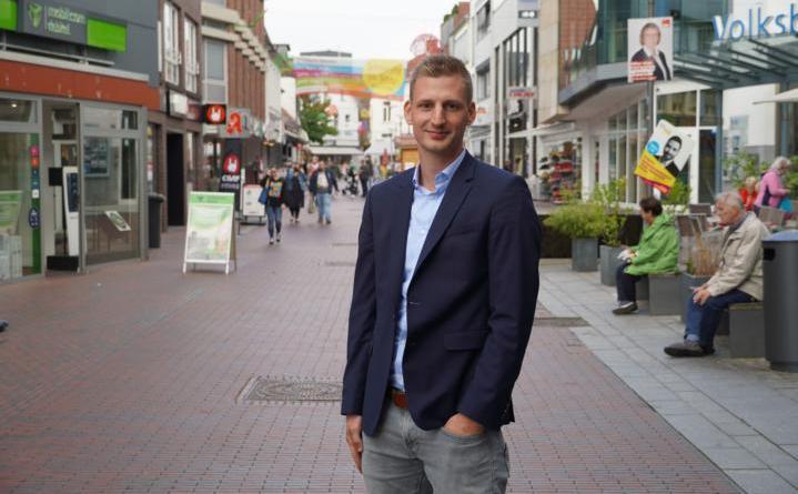 Citymanager Jonas Berger freut sich auf die Herausforderung. Foto: Stadt Lingen