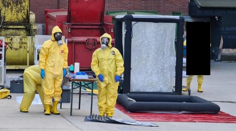 Meppen - Möglicher Gefahrstoffaustritt - die Feuerwehr informiert - Foto: TA