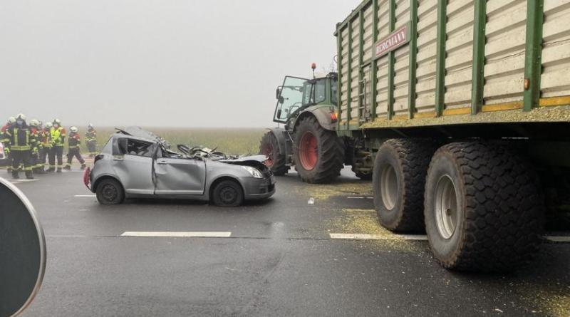 Bad Bentheim Bardel - 50-jährige bei Unfall lebensgefährlich verletzt - Foto: BP