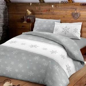 Set CopriPiumino Matrimoniale SNOW Grigio-0