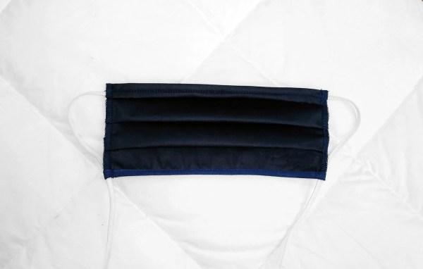 Mascherina protettiva colore Blu Notte in cotone con laccetto regolabile