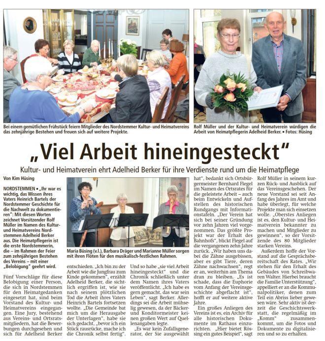 20171106_LDZ Kultur und heimatverein nordstemmen frau berker herr rolf müller