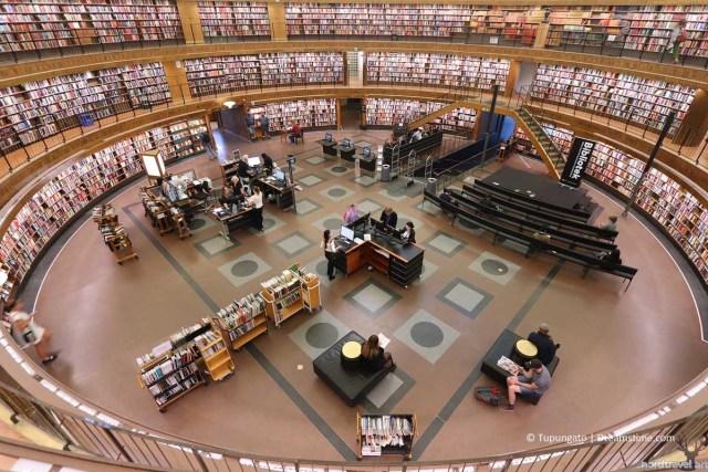 Стокгольмская библиотека. Читальный зал