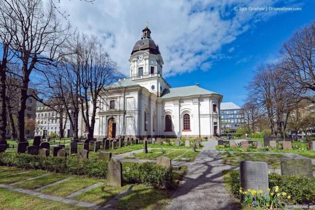 Церковь Адольфа Фредерика. Стокгольм. Швеция.