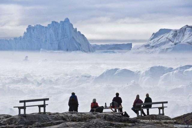 Айсберги Гренландии в заливе острова Диско. Илулиссат