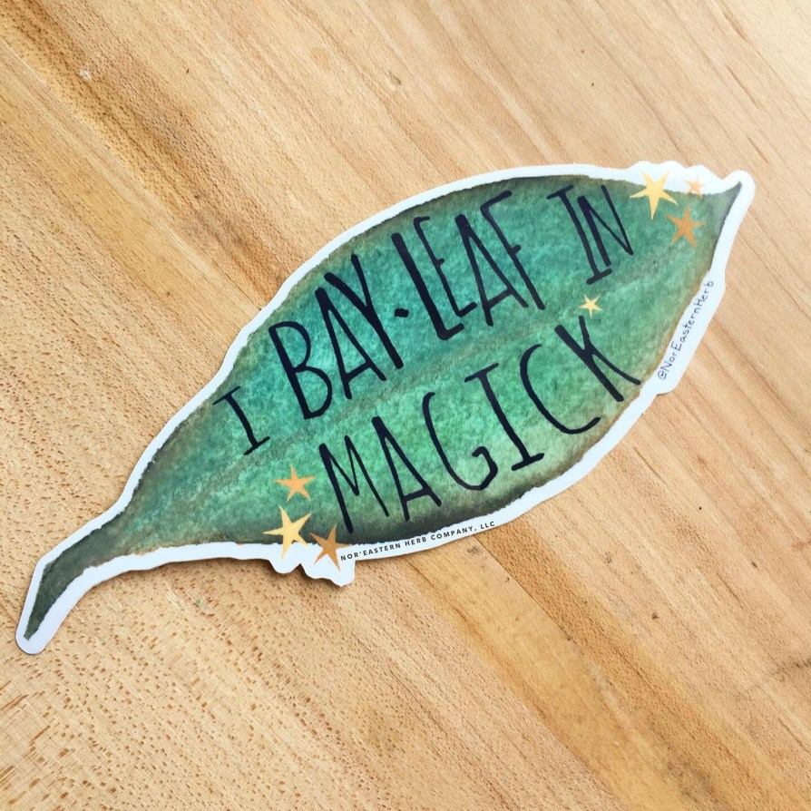I Bay Leaf in Magick Sticker on wood