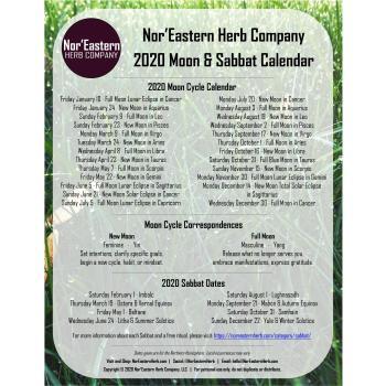 2020 Moon & Sabbat Calendar