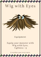 Wig with Eyes card