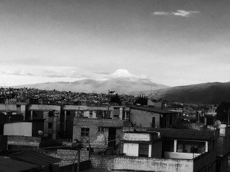 view from the rooftop of Cayambe