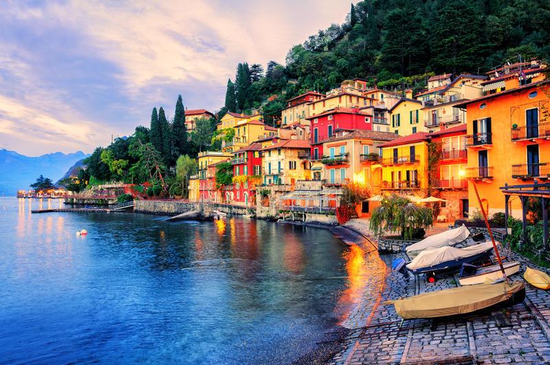 lago como milan italia