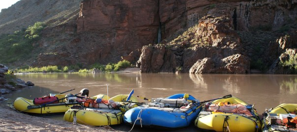 A Night's Parking along the Colorado River, Grand Canyon