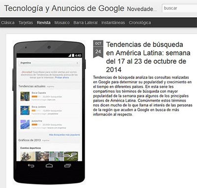 Permalink to Lista y enlaces a todos los blogs de Google