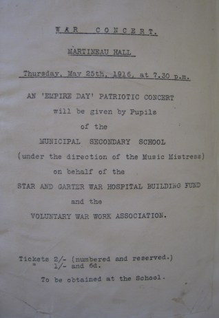 An Empire Day Concert held May 1916