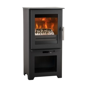 Heta Inspire 40 Multifuel stove on stand