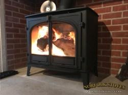 Roaring fire Inside the Stovax Stockton 14 Wood Burner