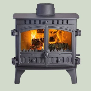 Image of Hunter Herald 8 slimline wood and multifuel stove