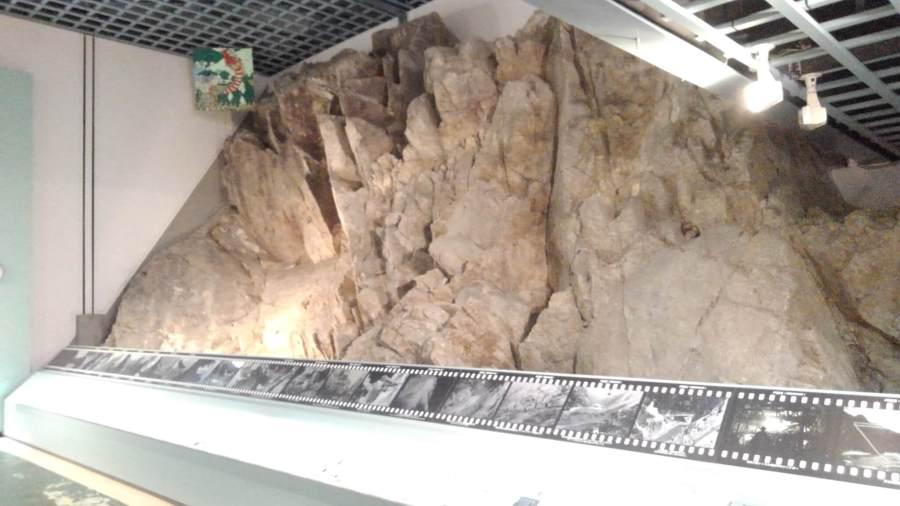 佐久間ダムの岩盤展示