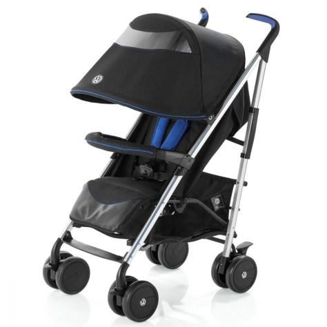 Carucior Knorr Baby Buggy Volkswagen, Negru cu Albastru