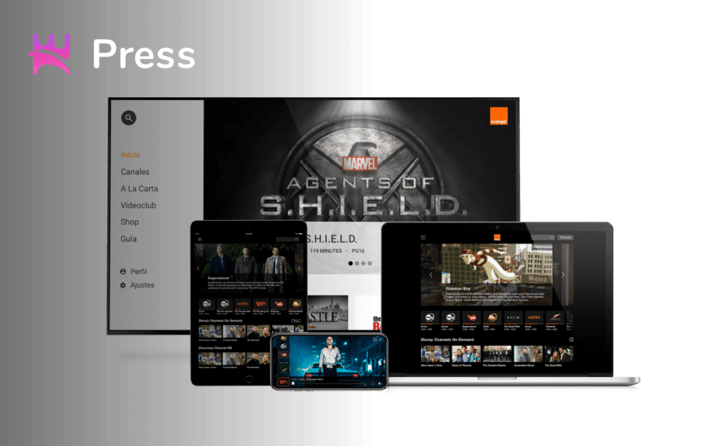 Orange use Norigin Media TV Apps in Africa
